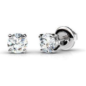 2 ct Ladies round brilliant cut diamonds Studs ear